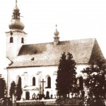 kostel Sobotín 40.-50. léta 20. stl.