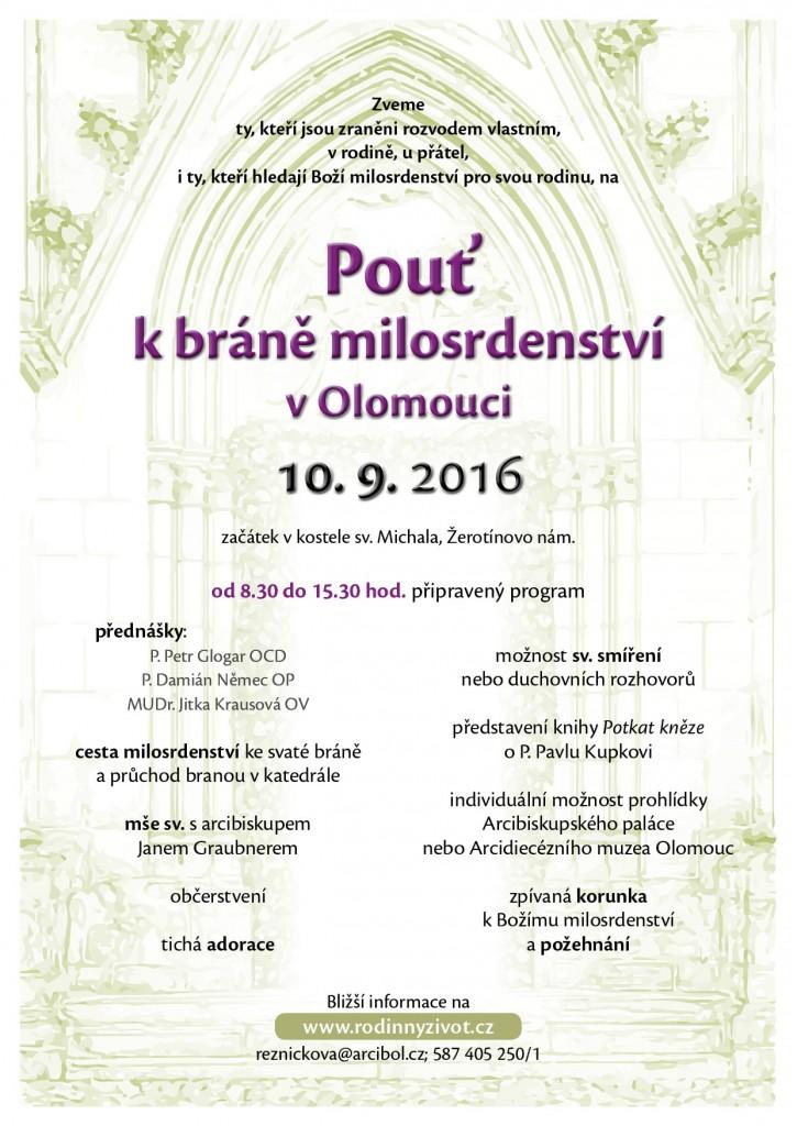 Pouť k bráně milosrdenství v Olomouci