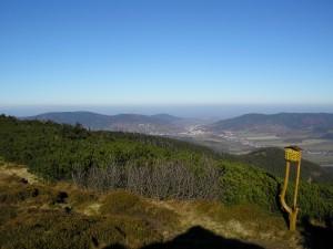Pohled z Červené hory k Jeseníku